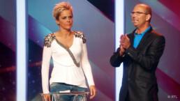 Rechengenie Christian Fontagnier begeistert Inka Bause bei das Supertalent